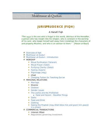 Mukhtasar al quduri a hanafi fiqh islamchest download pdf book