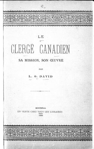 Le clergé canadien