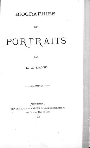 Download Biographies et portraits