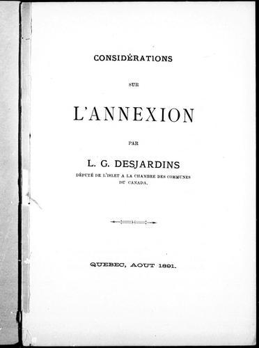 Download Considérations sur l'annexion