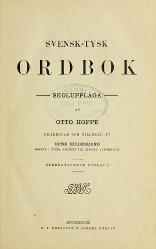 Download Svensk-Tysk ordbok