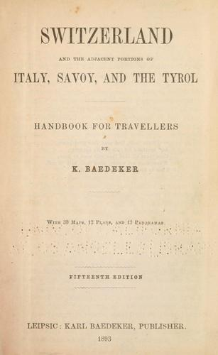 Download Switzerland, and the adjacent portions of Italy, Savoy, and the Tyrol