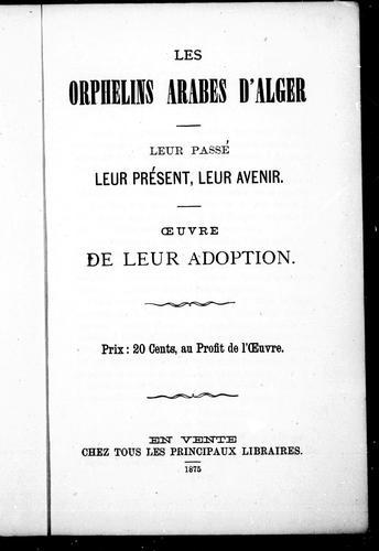 Download Les orphelins arabes d'Alger