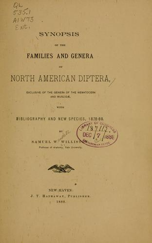 Download Synopsis of the families and genera of North American Diptera