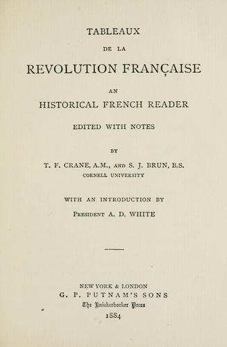 Tableaux de la révolution française