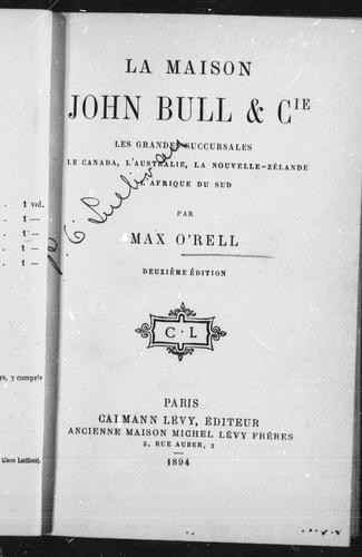 Download La maison John Bull & cie