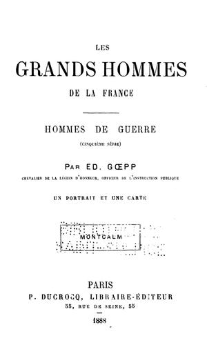 Download Les grands hommes de la France