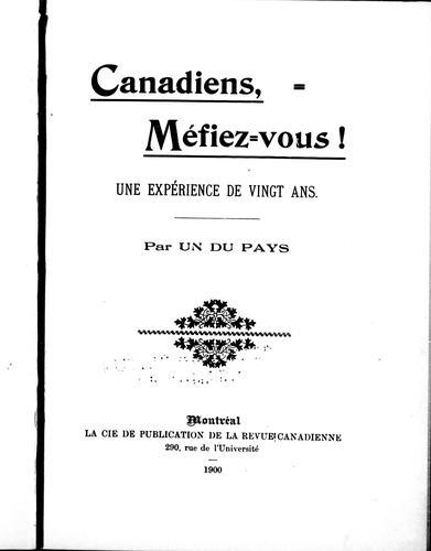 Download Canadiens, méfiez-vous