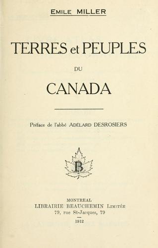 Terres et peuples du Canada