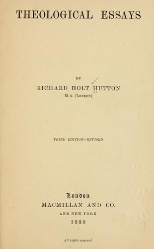 Download Theological essays