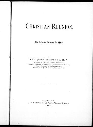 Download Christian reunion