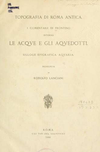 Download Topografia di Roma antica.