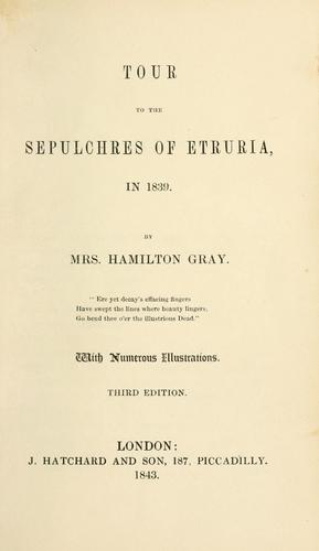 Download Tour to the sepulchres of Etruria, in 1839
