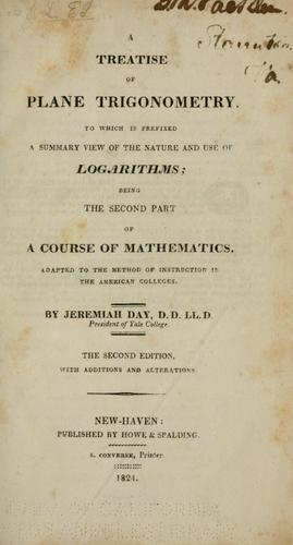 Download A treatise of plane trigonometry.