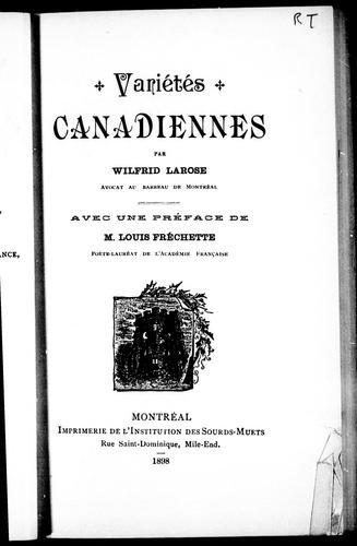 Download Variétés canadiennes