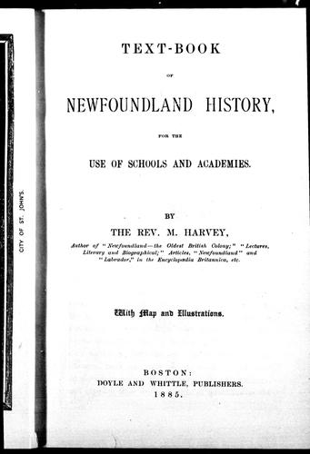 Download Text-book of Newfoundland history for the use of schools and academies