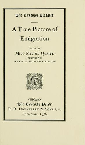 Download A true picture of emigration