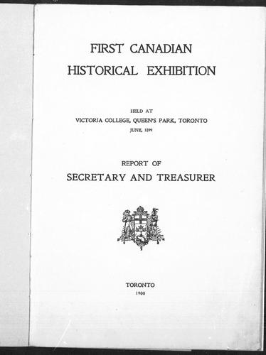 Download The Canadian Historical Exhibition, 1897