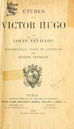 Download Études sur Victor Hugo.