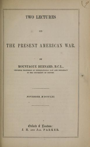Download Two lectures on the present American war