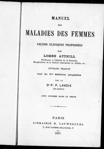 Download Manuel des maladies des femmes