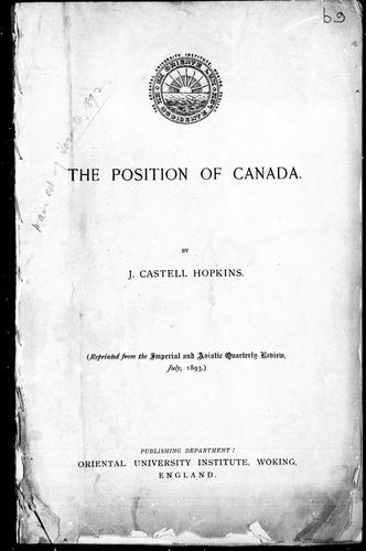 The position of Canada
