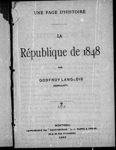 La république de 1848