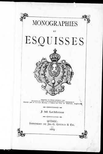 Monographies et esquisses