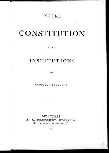 Download Notre constitution et nos institutions