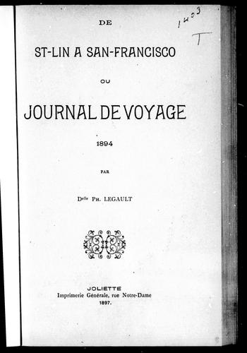 Download De St-Lin à San-Francisco ou Journal de voyage, 1894
