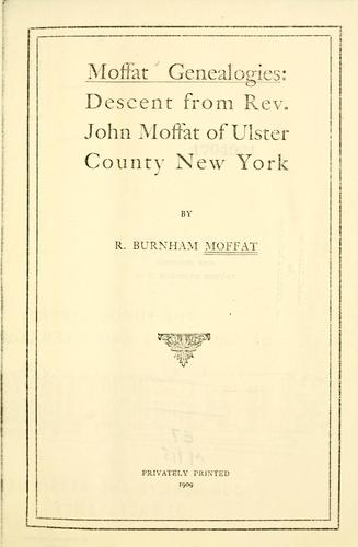 Download Moffat genealogies