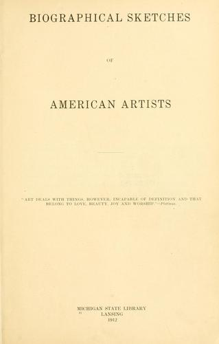 Download Biographical sketches of American artists.