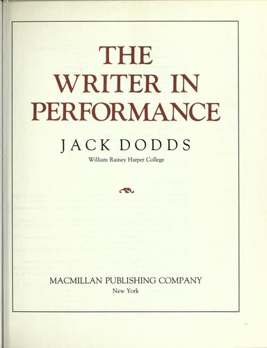 The Writer in Performance
