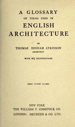 Download A glossary of terms used in English architecture