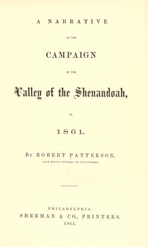 Download A narrative of the campaign in the valley of the Shenandoah, in 1861