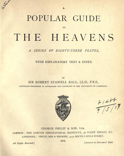 A popular guide to the heavens.