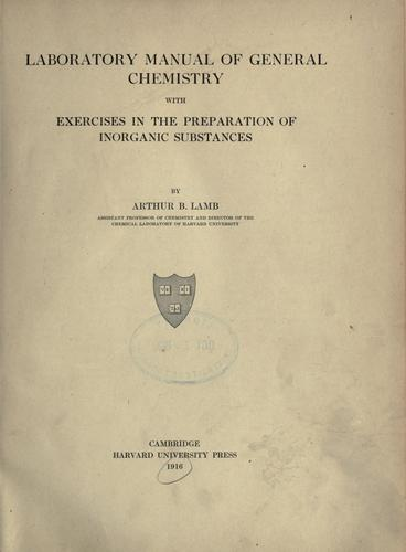 Download Laboratory manual of general chemistry