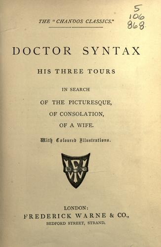 Doctor Syntax by Combe, William