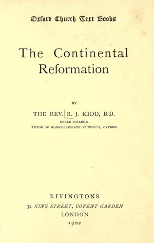 Download The continental reformation