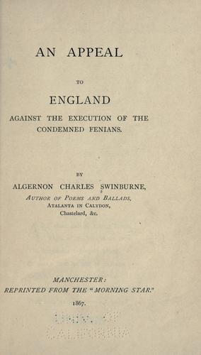 An appeal to England against the execution of the condemned Fenians.
