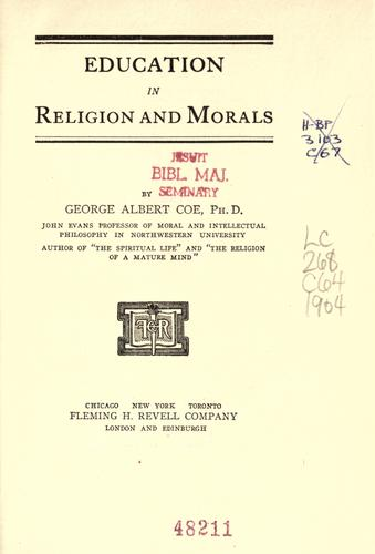 Education in religion and morals