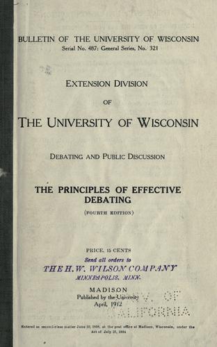 The principles of effective debating.