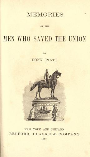 Download Memories of the men who saved the union