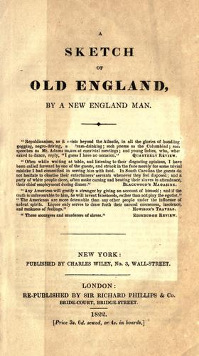 Download A sketch of old England
