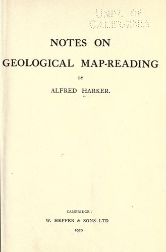 Notes on geological map-reading