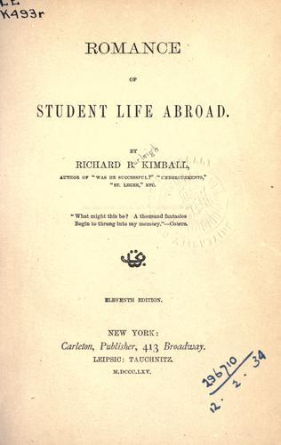 Romance of student life abroad.