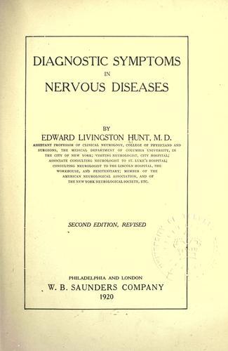 Download Diagnostic symptoms in nervous diseases.