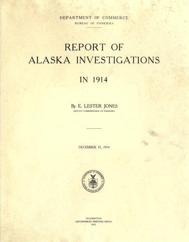 Download Report of Alaska investigations in 1914