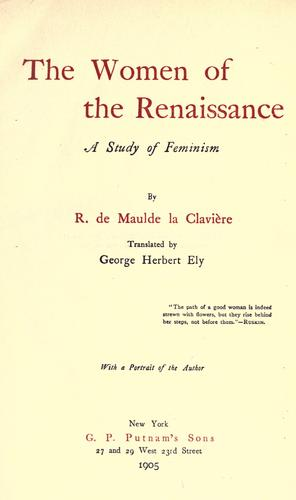 Download The women of the renaissance