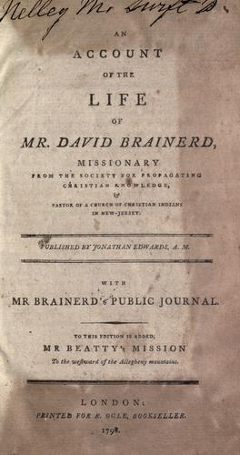 An account of the life of Mr. David Brainerd